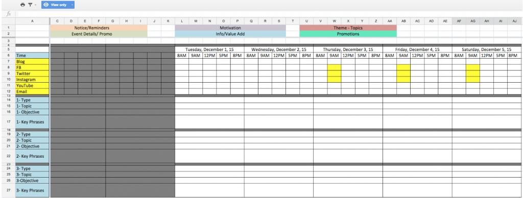 Пример календарного плана