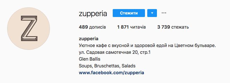 Аккаунт Zupperia