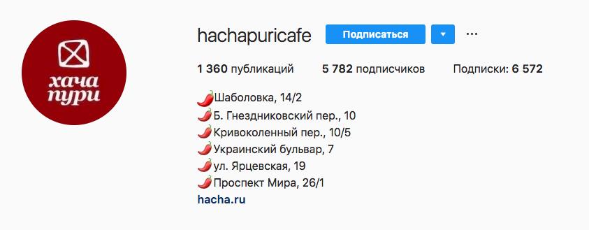Аккаунт hachapuricafe