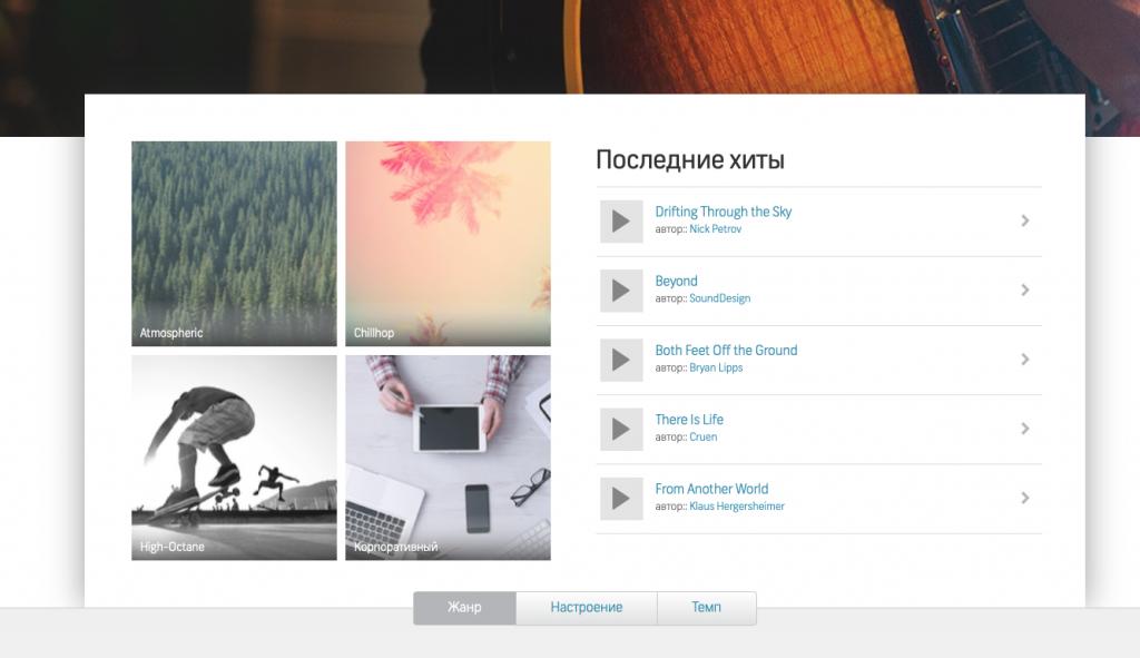 Каталог музыки Shutterstock
