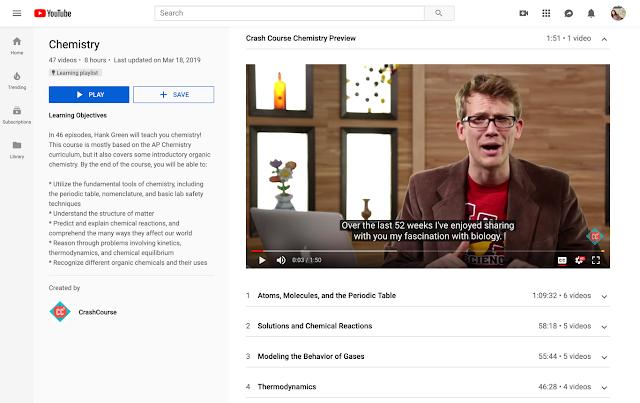 Пример канала YouTube