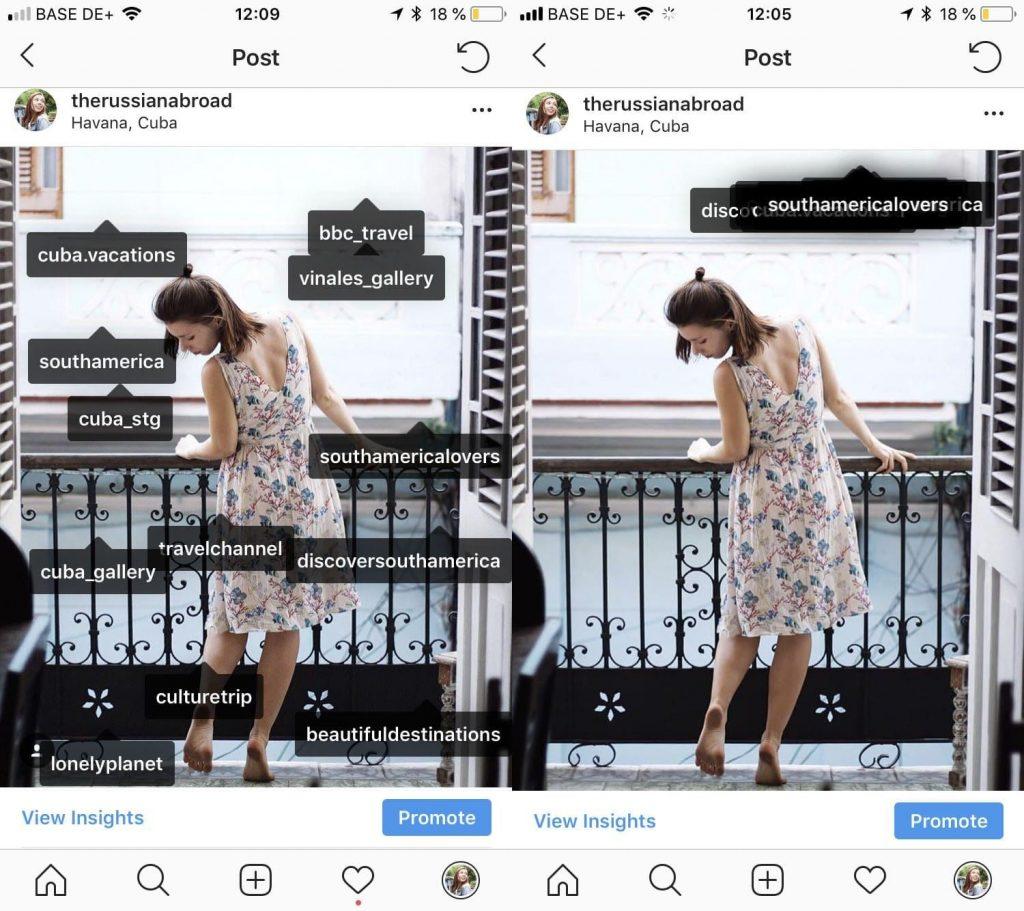 Как отметить людей в Инстаграм